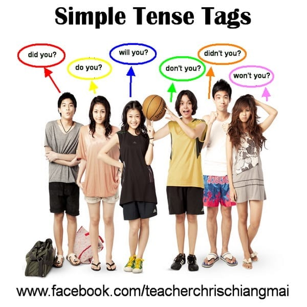Simple Tense tags ใช่ไหม