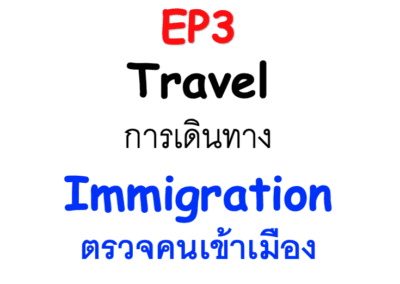 3/100 Immigration ตรวจคนเข้าเมือง